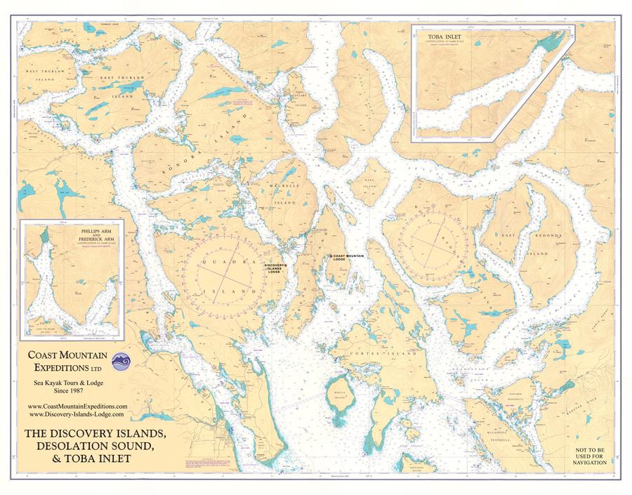 Discovery Islands Marine Chart
